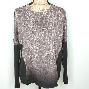 4/$25  All Saints Snakeskin Long Sleeve T-Shirt